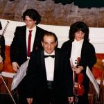Al termine di un concerto. 1980 (circa)