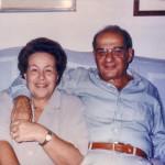 Maria e Filippo, in uno scatto del 1990 circa.