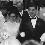 Il giorno del matrimonio di Maria e Filippo, 18 giugno 1956.