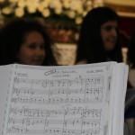 Lo spartito, scritto da Filippo Veniero, di uno dei brani riprodotti durante il concerto