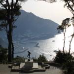 Panorama della Marina Grande di Capri da Villa Lysis